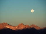 Moonset over the Great Western Divide