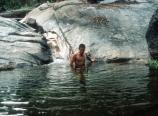 Taking a bath in Matterhorn Canyon