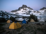 Our campsite before sunrise