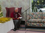Austin Colohan reading a Christmas story