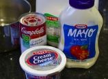 Cream cheese, mayonnaise, cream of mushroom soup, milk