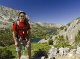Climbing toward Bishop Pass