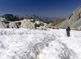 Snowfield near Bishop Pass