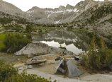 Campsite in Lower Dusy Basin