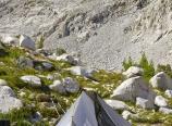 Homemade tent at Lake 10880