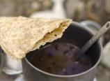 Tortilla and black bean soup