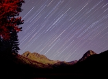 Eastern star trails above McClure Meadow