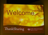 ThankSharing welcome slide