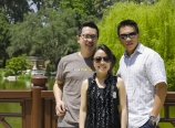 In the Chinese garden