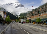 Town of Banff with Cascade Mountain