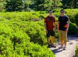 Ben and me and manzanita bushes