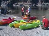Getting ready to kayak upstream
