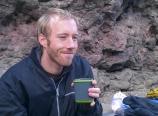 Christoff Van Niekerk having coffee