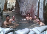 The lower pool at Arizona Hot Springs