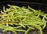 Grilling green beans