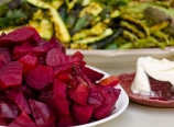 Roasted beets with goat cheese salad