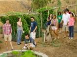 Touring the vegetable garden