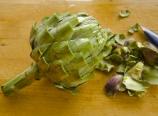 Trimmed artichoke