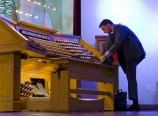 Peter at the organ