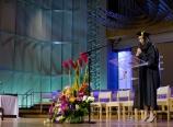 Teresa Tan giving the benediction