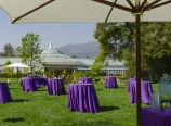 Tables for champagne toast