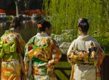 Japanese ladies in the Chinese Garden