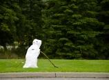 Snowman by Banff National Park entrance