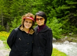 Mom and Lilian at Radium Hot Springs