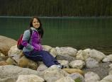 Alice at Lake Louise