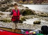 Max in his canoe