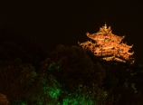 City God Pavilion at night