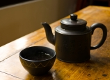 At the teahouse