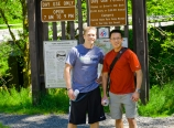 Barth and Danny at the trailhead