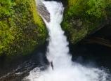 Cliff jumping Punch Bowl Falls