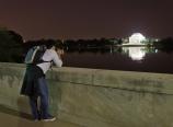 Ben Chen shooting the Jefferson Memorial