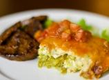 Breakfast leek asparagus quiche