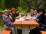 Picnic lunch at Emerald Lake