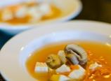 Mushroom tofu soup