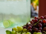 Grapes and lime water
