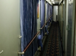 Sleeper train hallway
