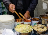 Street vendor breakfast