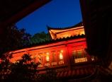 Zen Garden Lion Hill Hotel at night