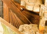Roof rafters at the Baisha Murals