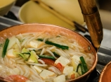 Rice noodles soup