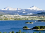 Mt. Guyot, Bald Mountain, and Lake Dillon