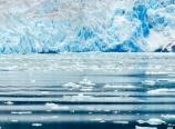 Calving icerbergs