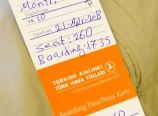 Paper boarding pass