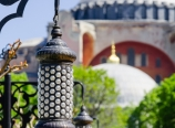 Street lamps and the Hagia Sophia