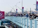 Fishing on the Galata Bridge
