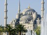 Fountain and the Blue Mosque